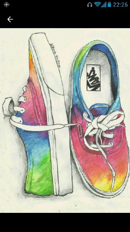 buty #vans #colorfull #wiktoria #mudyna #i #love #rysunki na