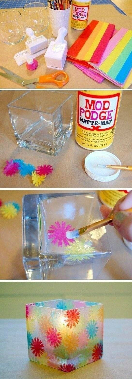 pomysł na kolorowe świeczniki