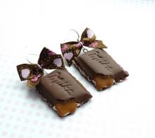 Kolczyki czekoladki z wypły...