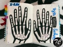 Obrysuj swoją rękę, w formi...