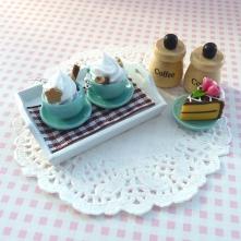 Kolczyki miniaturowe cerami...