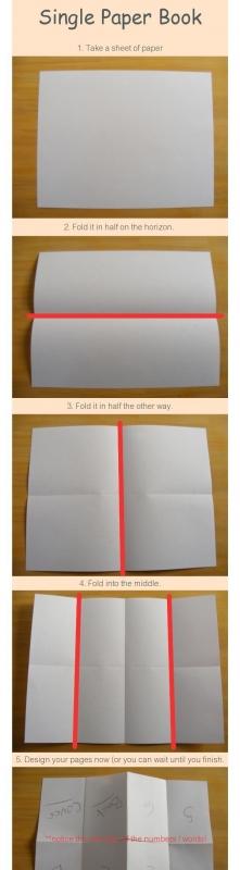 książeczka z kartki:)
