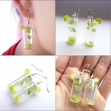 Kolczyki miniaturowe szklan...