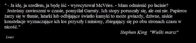 """""""WIELKI MARSZ"""" - Stephen King"""