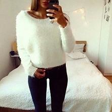 biały sweterek :)