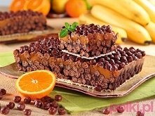 Kajmakowy chrupak z czekoladowych płatków śniadaniowych!  Przepis po kliknięc...