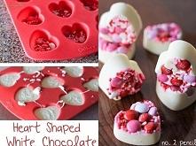 Pycha czekoladki z emememsami! Jeżeli masz w domu foremki w kształcie serca, ...
