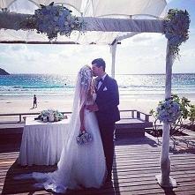 Ślub nad morzem, przepięknie! :)