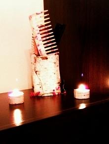 Brzozowy pojemnik i osłonki na świeczki ♥  Po długim spacerze w lesie wróciła...