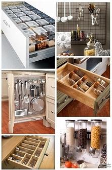 Sprytne rozwiązania w Twojej kuchni, które pozwolą Ci... mieć zawsze porządek i zaoszczędzą trochę miejsca! Może wykorzystasz któryś z patentów;)