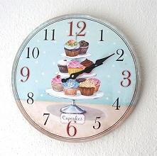 Mój babeczkowy zegar, odmierza tylko słodkie godziny:D