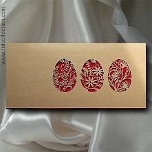 """""""złoto-czerwone pisanki..."""" Złoto i elegancka czerwień. Kolory serc..."""