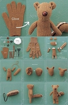 Prosty sposób jak zrobić dziecku zabawkę z rękawiczki :)
