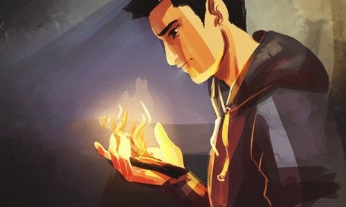 """""""Będzie najsilniejszy i największy w waszym klanie. Ale Fata zawyrokowało również, że będzie najbardziej podatny na zranienia. Jego życie zapłonie mocnym, ale krótkotrwałym płomieniem. Kiedy ogień pochłonie to drewienko... ten patyk na skraju paleniska... twój syn musi umrzeć"""". """"Syn Neptuna"""" ~Rick Riordan~"""