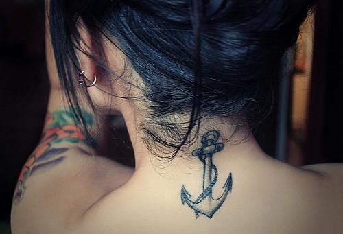 Kotwica Wow 3 Na Tatuaże Na Karku Zszywkapl