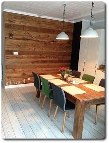 Stare drewno na ścianie
