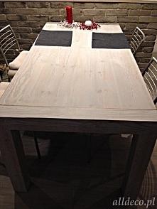 Stół  ze starego bielonego ...