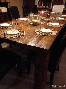 Stół ze starego dębowego dr...