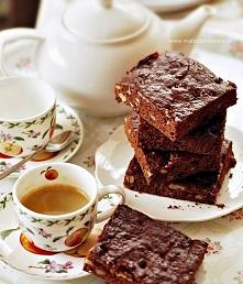 Miodowe brownies z czekolad...