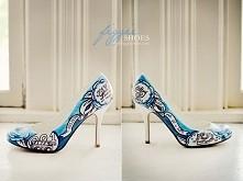 Buty ślubne ręcznie malowane
