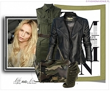 Stylizacja kurtka damska ramoneska klasyczna frędzle na plecach odpinane model #97 fashionavenue.pl