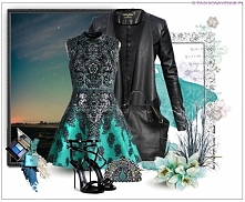 Stylizacja Ekskluzywna Kurtka Damska Skóra Waterfall Kardigan Duży Kołnierz Zamsz Dopasowana model #98 fashionavenue.pl