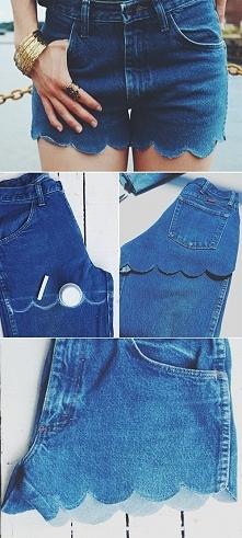 Spodenki z falbaną - DIY! Nigdy nie wyrzucaj starych spodni, bo zawsze możesz... przerobić je na coś innego, chociażby spodenki! DIY - zrób to sam/a!