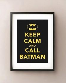 Plakat w ramie KEEP CALM AND CALL BATMAN littlethings.pl