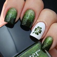 Najmodniejsze zielone paznokcie na wiosnę! ->> zrób sama te wzorki-->>