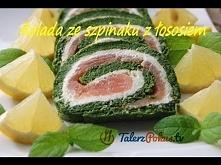 Rolada ze szpinaku z wędzonym łososiem :) paczka mrożonego szpinaku (450 g) 4...