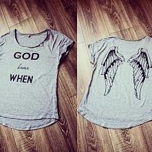 Koszulka z nadrukiem:) God ...