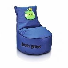 Piękna niebieska pufa idealna do pokoju dziecięcego - PUFA KING PIG SEAT S - ...