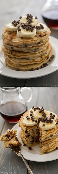 bananowo-czekoladowe pancakes ❤️