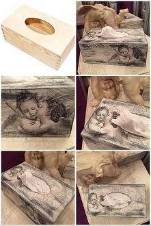 romantyczne pudełko na chus...