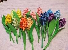 hiacynty z kolorowego papieru
