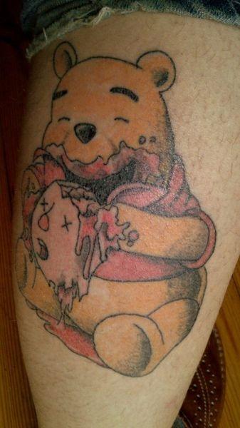Tatuaż Kubusia Puchatka Na Tatuaże Zszywkapl