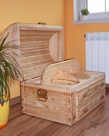 Cześć dziewczyny!Mam do sprzedania nową ręcznie robioną skrzynie drewnianą. J...
