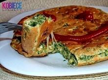Pyszny zdrowy OBIAD!!! Bądź fit!!!  30g płatków owsianych, jajko, łyżka mąki, 1/4 szkl mleka, 1/2 łyżeczki proszku do pieczenia, sól/pieprz/zioła, kawałek sera, trochę mrożonego...