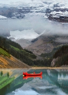 Two Canoes, Lake Louise, Ca...