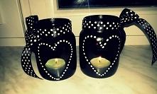 świeczniki zrobione ze słoików