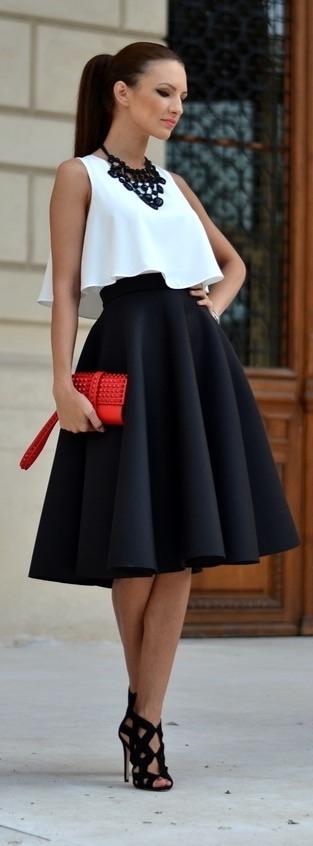 Le Labbra Fashion szyta na miarę bluzka podwójna z falbaną