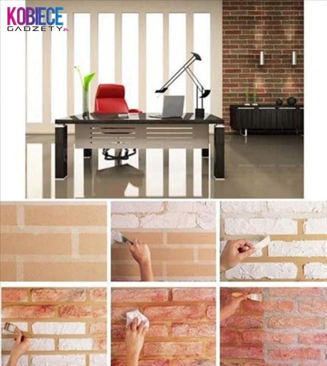 CEGŁA w domu...piękna faktura ścian, wykonana własnoręcznie... Super pomysł...na pewno nada każdemu wnętrzu indywidualnego stylu...