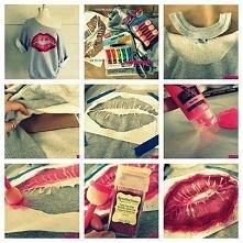 Bluzka buziakowa DIY