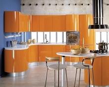 Co powiecie o kuchnie na pomarańczowo?