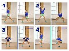 Trening na smukłe uda! <3 Każde ćwiczenie x15 (na każdą stronę), pomiędzy ...