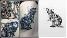 rat tattoo projekt i realiz...
