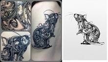 rat tattoo projekt i realiz...
