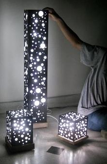 Lampa nocna, którą można zrobić samemu.