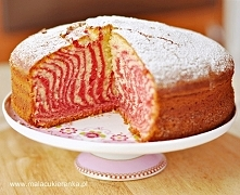 Ciasto zebra kolorowa. Przepis po kliknięciu w zdjęcie.