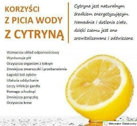 Z rana jak talala. A Wy pijecie wodę z cytryną?
